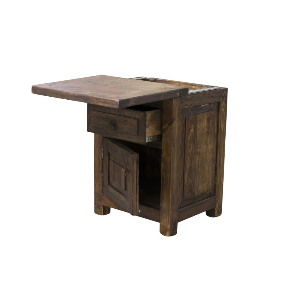 concealed nightstand top open