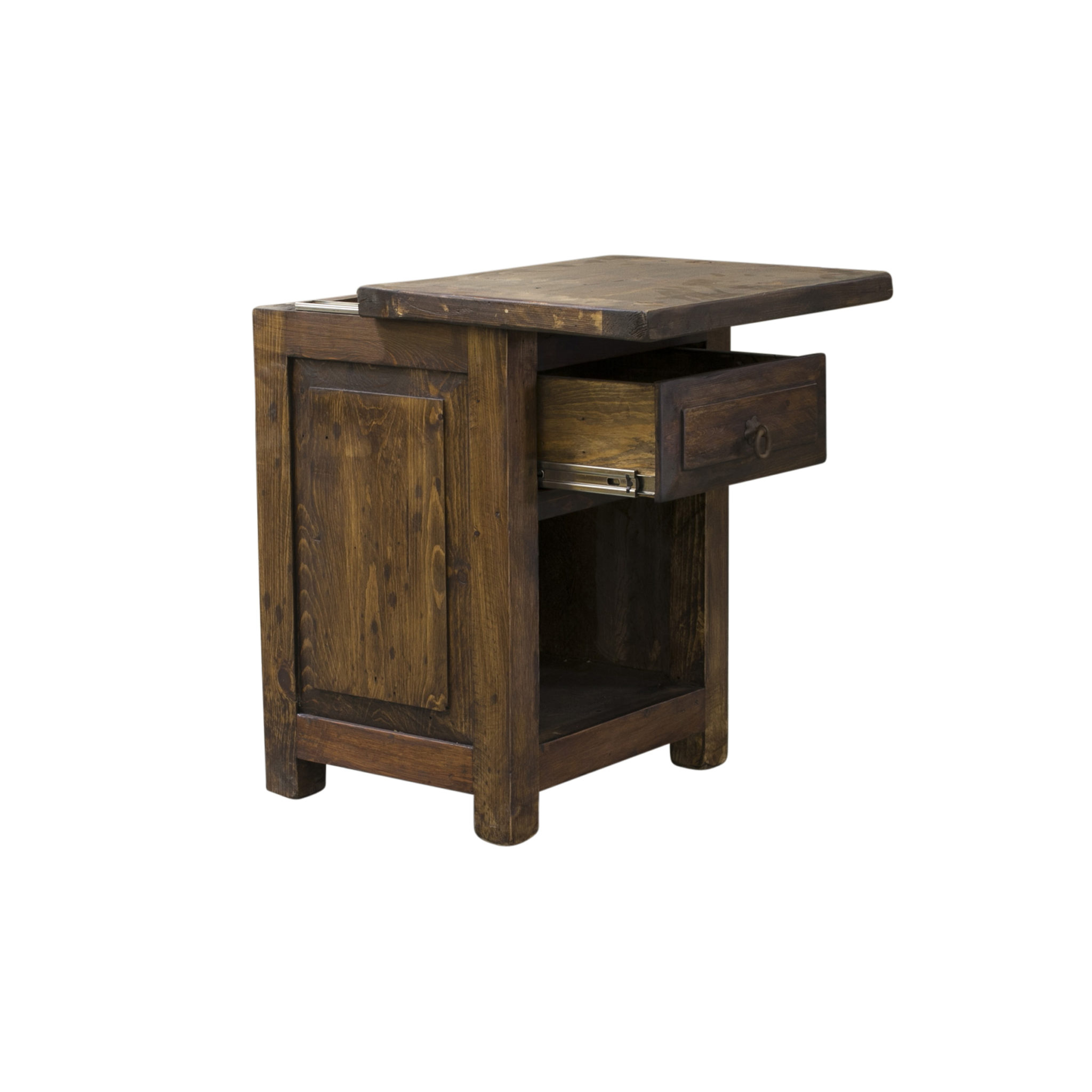 concealed nightstand with cubby