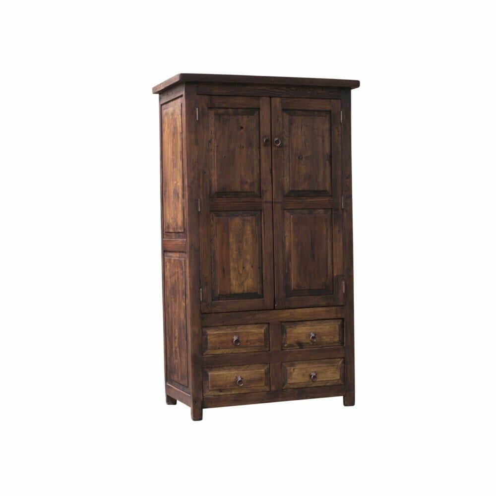 Chandler rustic linen cabinet side