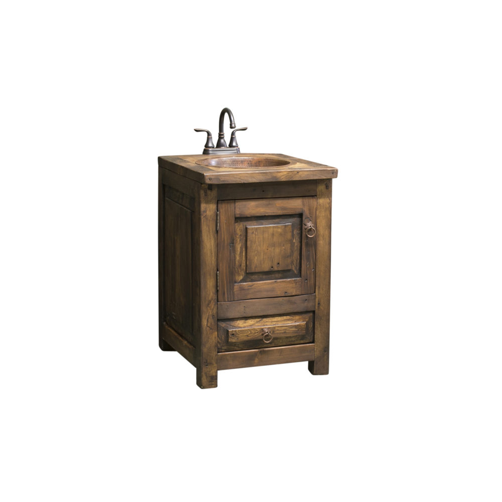 "24"" bathroom vanity rustic"