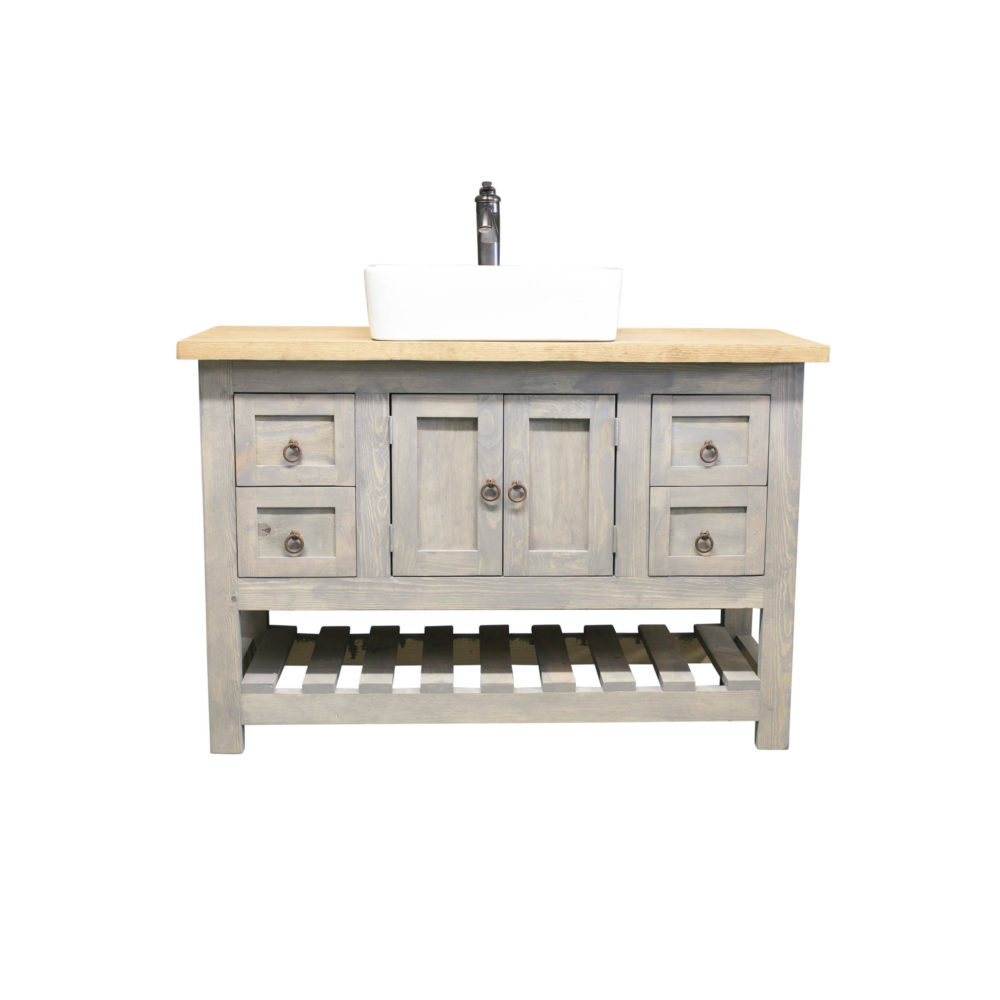 farmhouse gray vanity