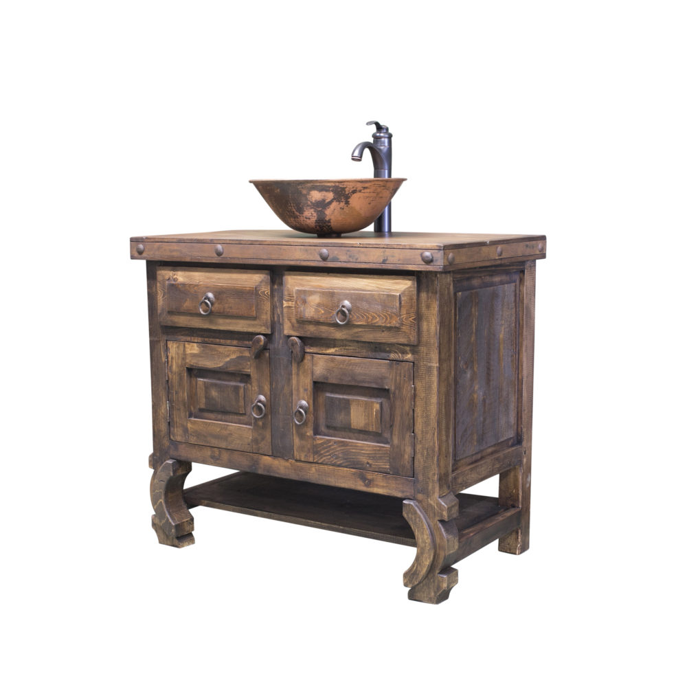single sink vanity farmhouse