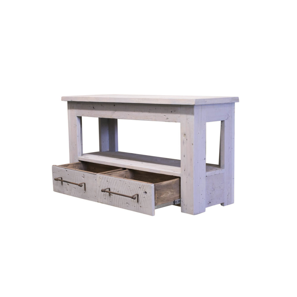 Malekai Reclaimed Wood Vanity open