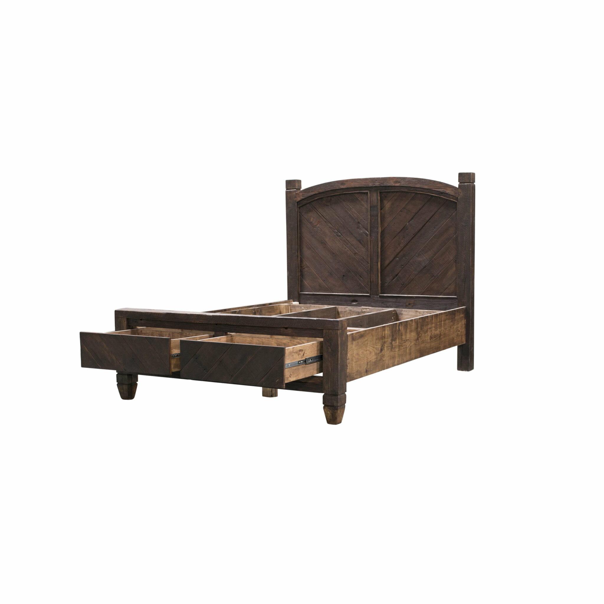kinley rustic reclaimed bed