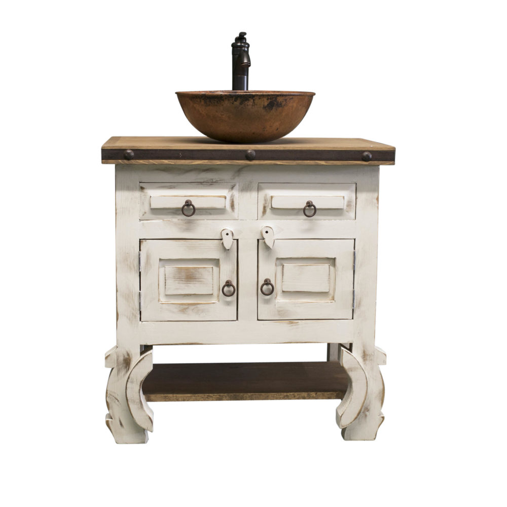 white farmhouse vanity