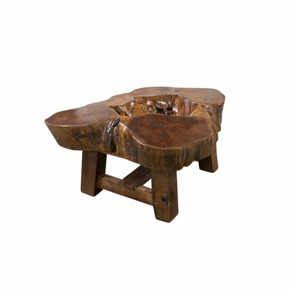 mesquite live edge end table