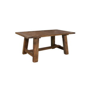 oak dining table side