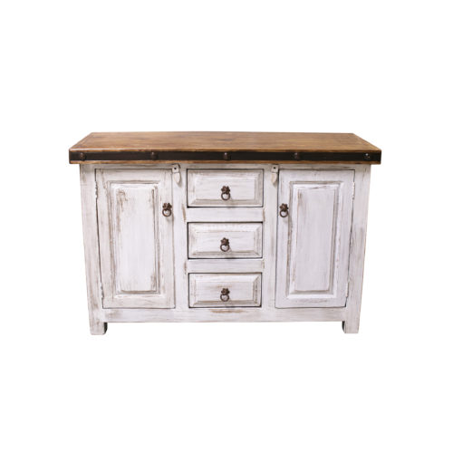 white bathroom vanity rustic
