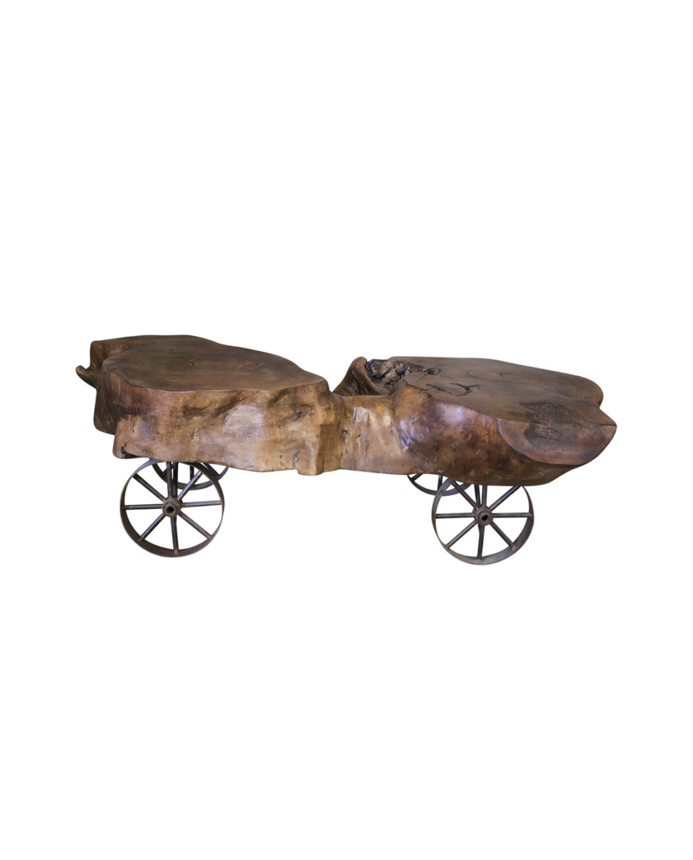 mesquite wagon wheel table front