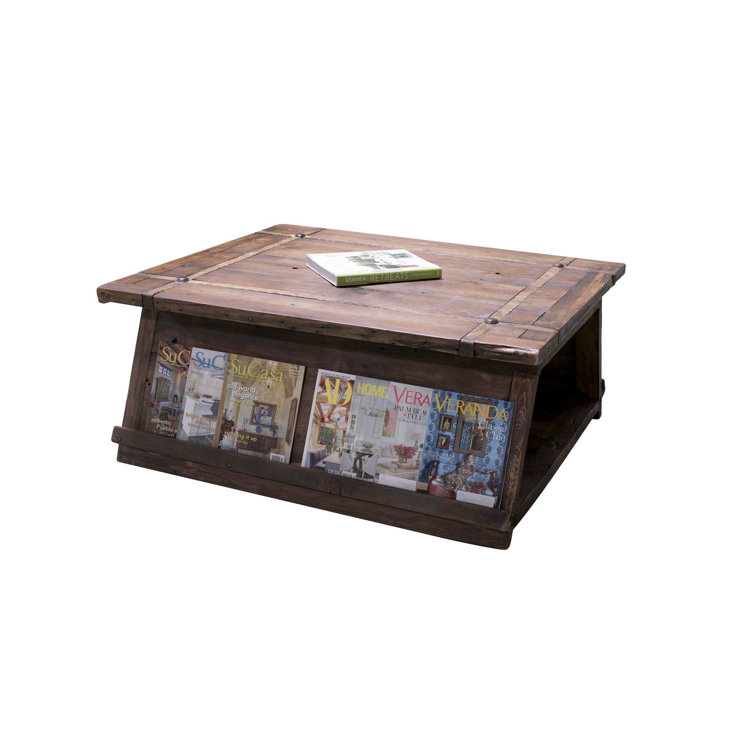 javier coffee table side with books
