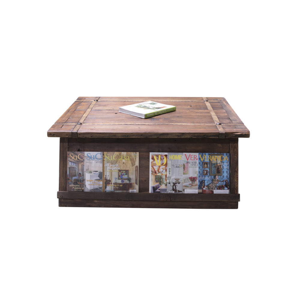 javier coffee table front with books