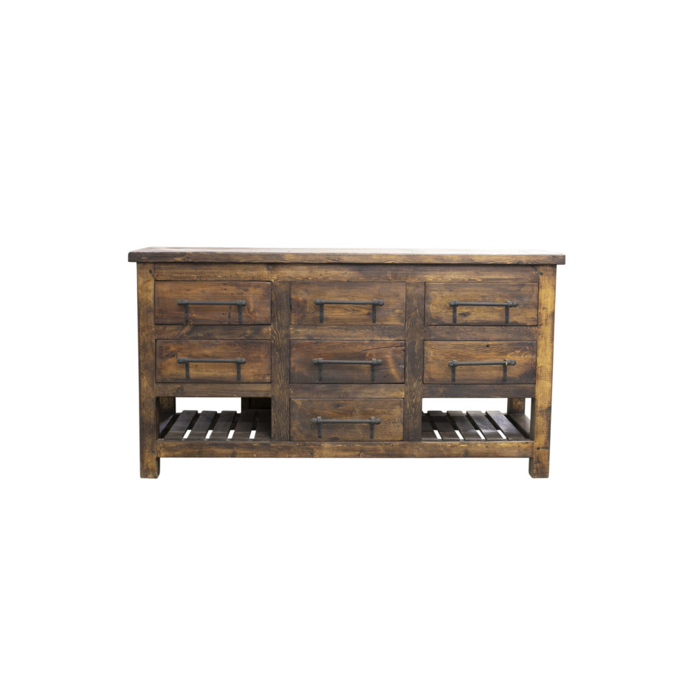 kyle reclaimed wood vanity front