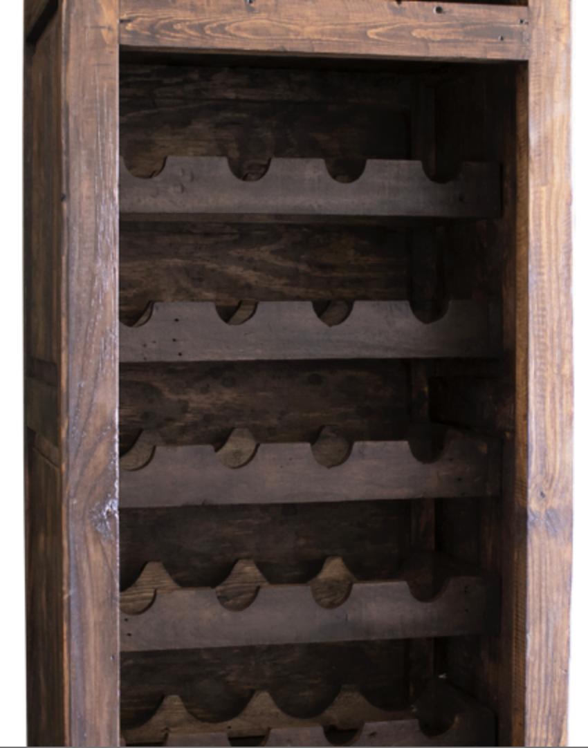 hastings tall wine rack inside