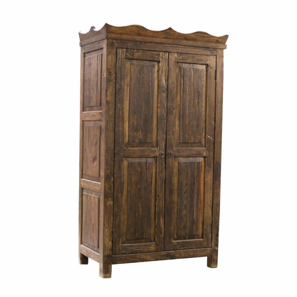 Brayden reclaimed armoire side