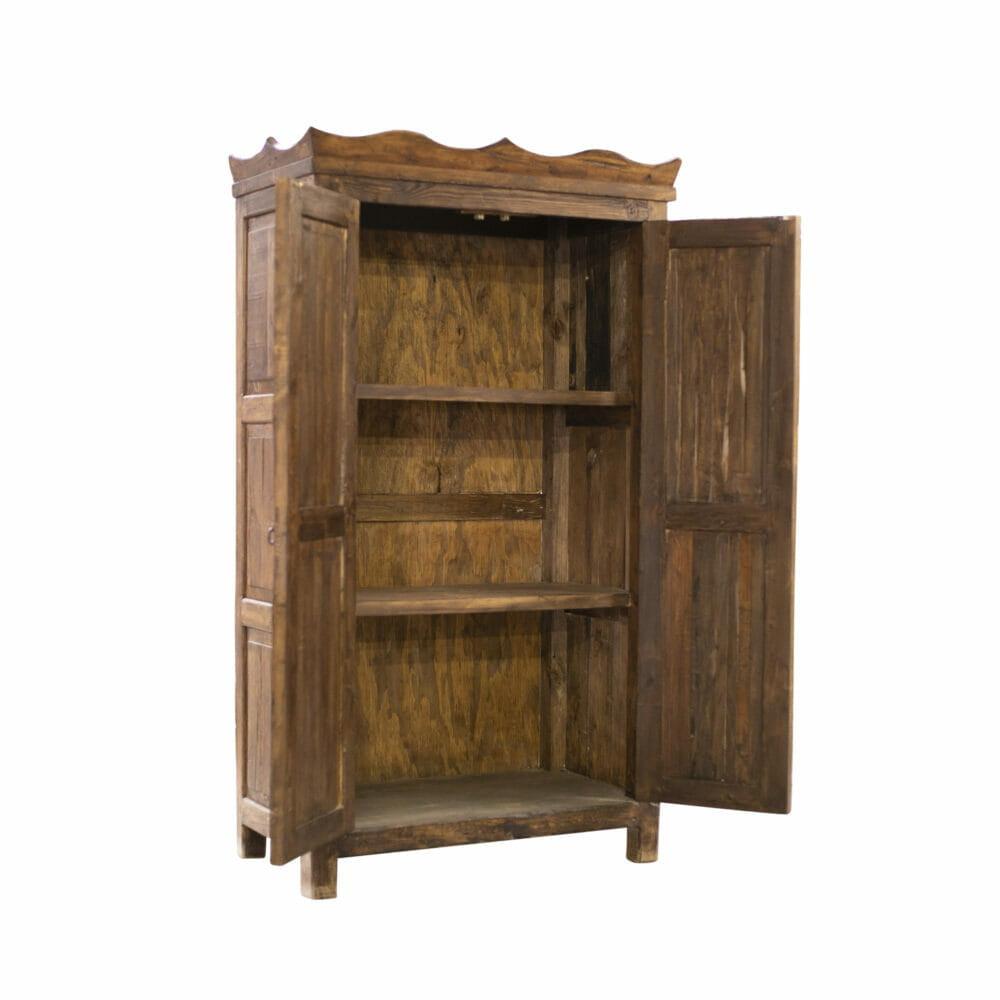 Brayden reclaimed armoire open