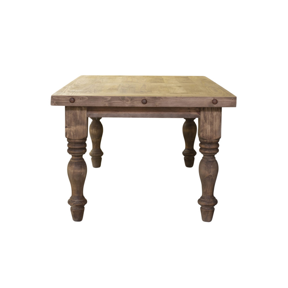 Magnolia rustic dining table side