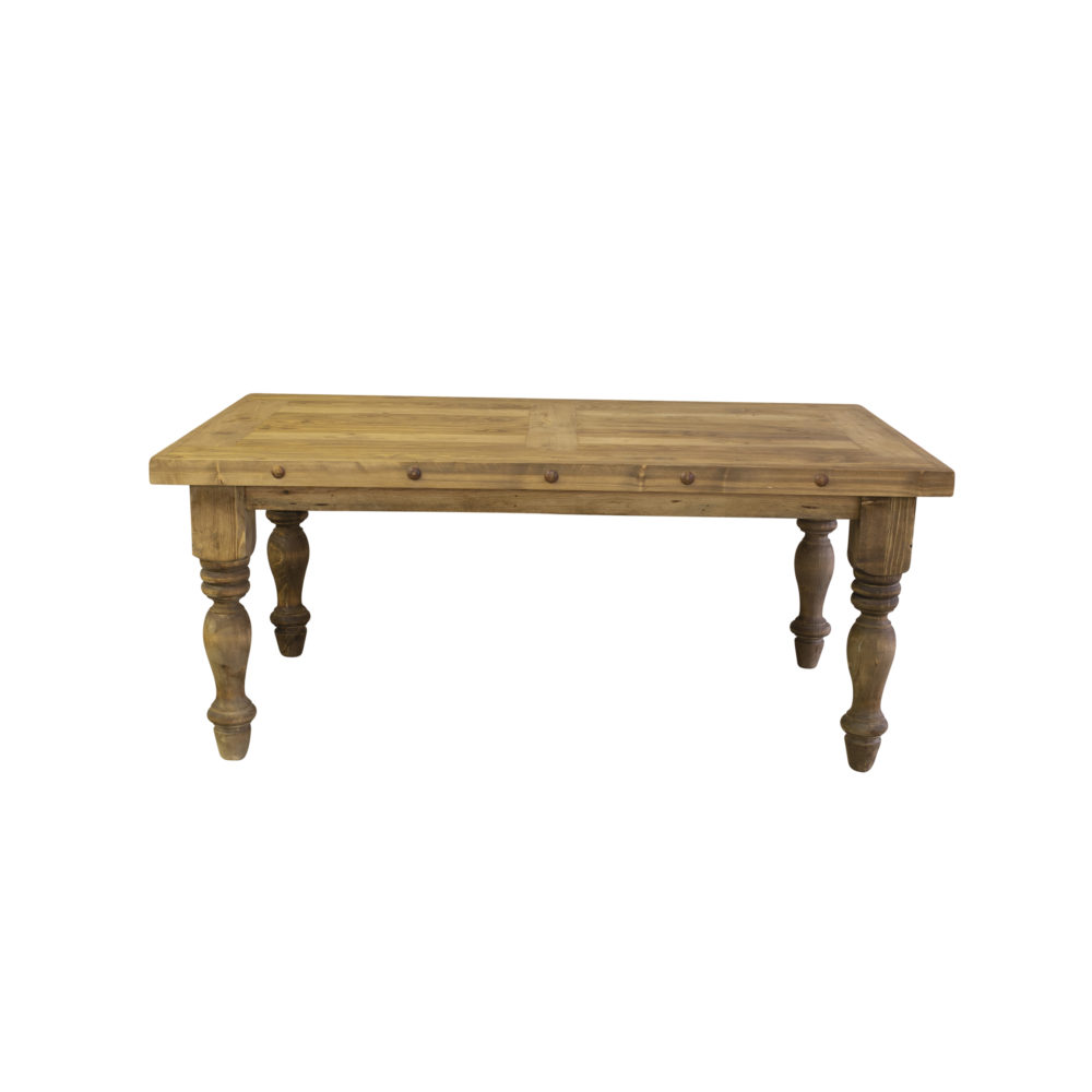 Magnolia rustic dining table front